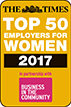 The Times - Top 50 employers for women 2017